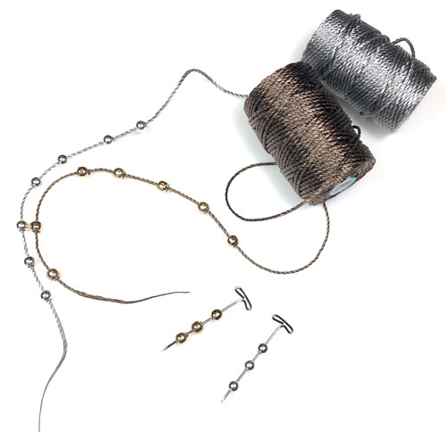 Smart Beads | Sterling Silver and Gold Filled | Perfect for positioning on C-lon Tex 400 Bead Cord and Wire