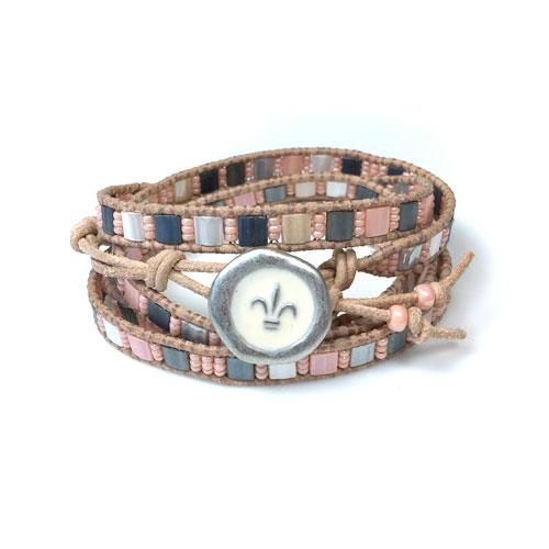 Leather Wrap Bracelet Kit And Tutorial